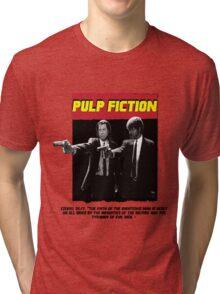 Pulp Fiction torn design Tri-blend T-Shirt