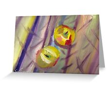Sweet Candy Apple Stripes  Greeting Card