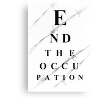 End the occupation Canvas Print