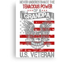 GRANDPA - US VETERAN Canvas Print