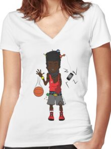 High Top Women's Fitted V-Neck T-Shirt