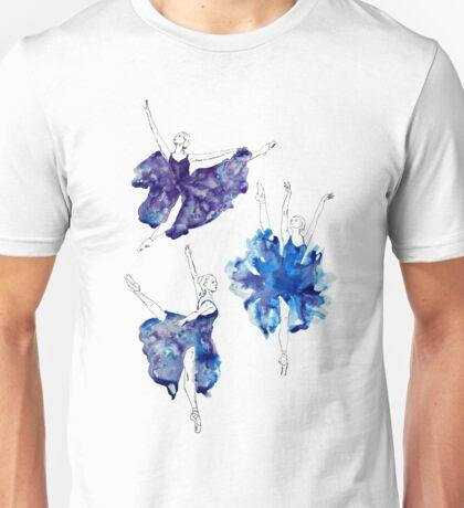Watercolour Ballerinas Unisex T-Shirt