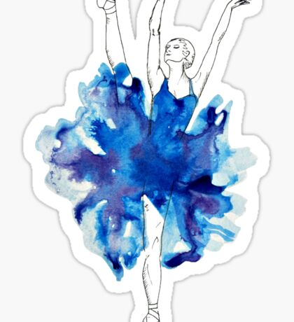 Watercolour Ballerina Sticker
