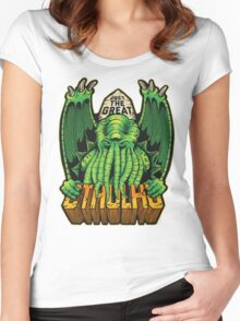 The Great Cthulhu Women's Fitted Scoop T-Shirt