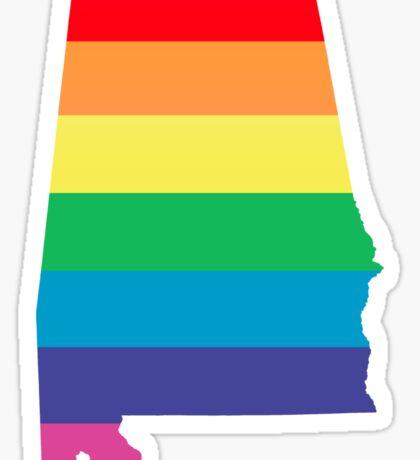 rainbow alabama Sticker