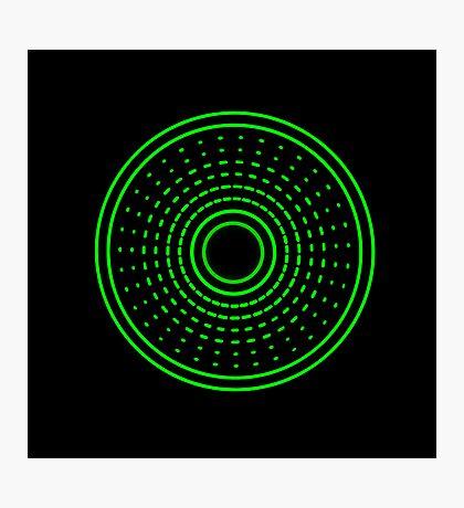 Green Aliens Alarm Photographic Print