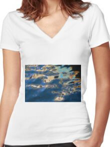 Color Abstraction XXXVII Women's Fitted V-Neck T-Shirt