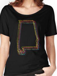 alabama rainbow blur Women's Relaxed Fit T-Shirt