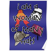 Woman of Many Hats Poster