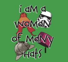 Woman of Many Hats Kids Tee