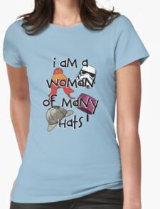 Woman of Many Hats Womens T-Shirt