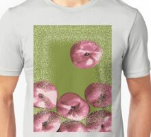 Peaches in green background Unisex T-Shirt