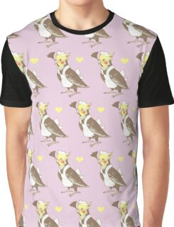 Cockatiel Maid Graphic T-Shirt
