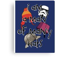 Man of Many Hats Canvas Print