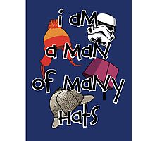 Man of Many Hats Photographic Print