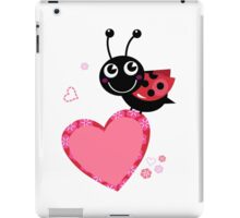 Happy cute Ladybug with Valentines heart iPad Case/Skin
