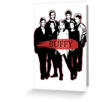 BTVS CAST (S3): The Scoobies! Greeting Card