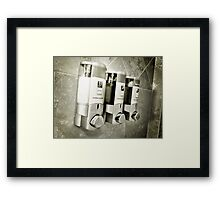 Hotel Shower Framed Print