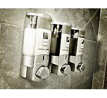 Hotel Shower Photographic Print