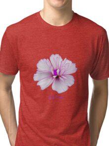 Pale pink flower power Tri-blend T-Shirt