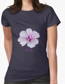 Pale pink flower power Womens Fitted T-Shirt