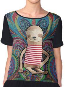 Trippy Sloth no. 1 Chiffon Top