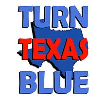 Turn Texas Blue #3 Photographic Print
