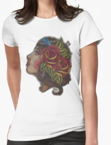 Gypsy Girl, Tattoo Style  Womens Fitted T-Shirt