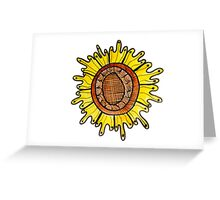 Funky Watercolor Sunflower Greeting Card