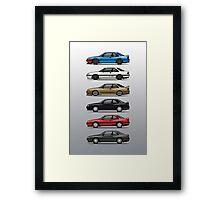 Stack of Mazda MX6s Framed Print