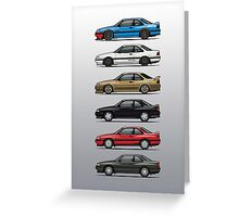 Stack of Mazda MX6s Greeting Card