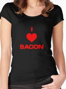 I heart bacon Women's Fitted Scoop T-Shirt