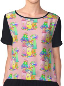 Colorful Mushroom Friends Chiffon Top
