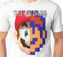 Modern Mario to Retro Mario Comparison Unisex T-Shirt