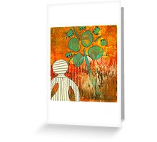 Camera Shy (Monotype) Greeting Card
