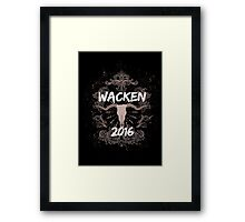 Wacken 2016 Heavy Metal Festival Germany  Framed Print