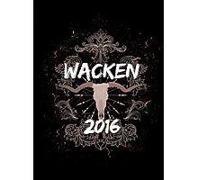 Wacken 2016 Heavy Metal Festival Germany  Photographic Print