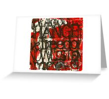 Weathering CHANGE (Monotype) Greeting Card