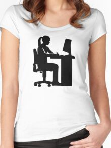 Female graphic artist Women's Fitted Scoop T-Shirt