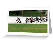 Velodrome Racing Greeting Card