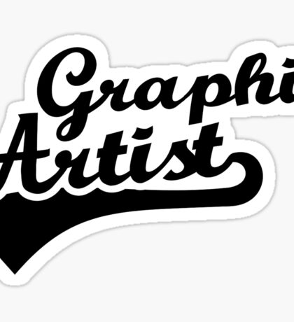 Graphic artist Sticker