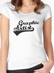 Graphic artist Women's Fitted Scoop T-Shirt