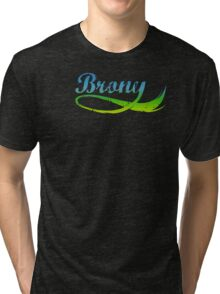 Brony - green tail Tri-blend T-Shirt