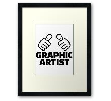 Graphic artist Framed Print