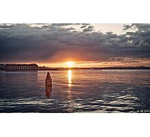 Days Magical Ending on the Bay Photographic Print
