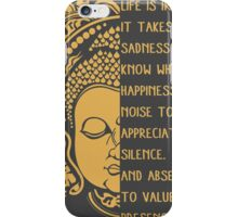 life is ironic buddha iPhone Case/Skin