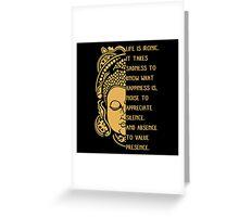 life is ironic buddha Greeting Card