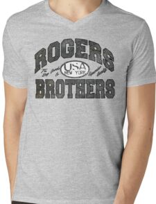 usa new york wood by rogers bros Mens V-Neck T-Shirt