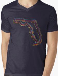 florida pride blur Mens V-Neck T-Shirt