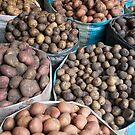 Lots of varieties of spuds by stuwdamdorp